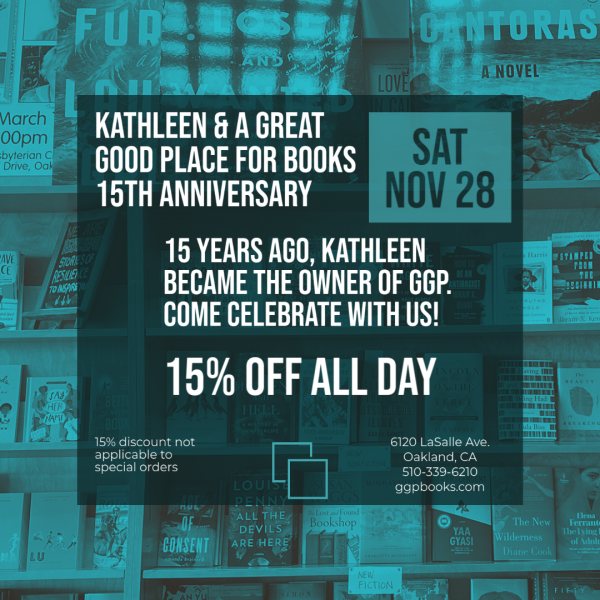 15 year anniversary of Kathleen owning GGP / 15% off all day