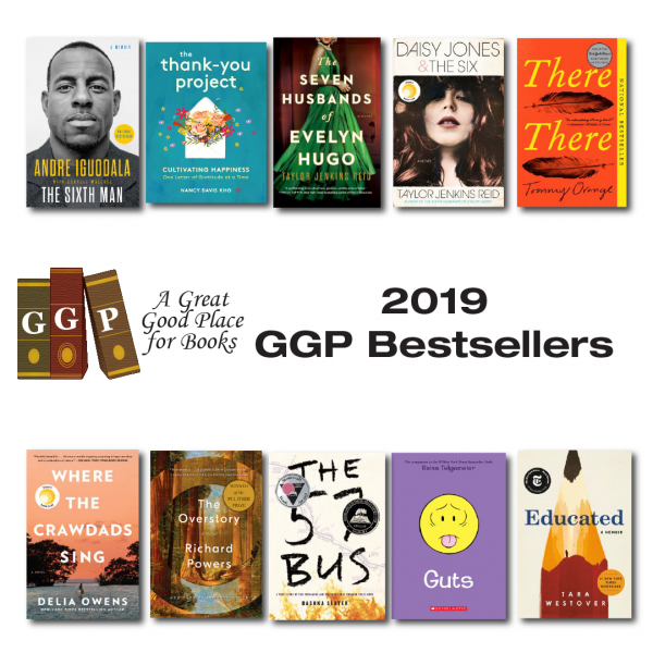 Cover pictures for the ten 2019 bestsellers listed below