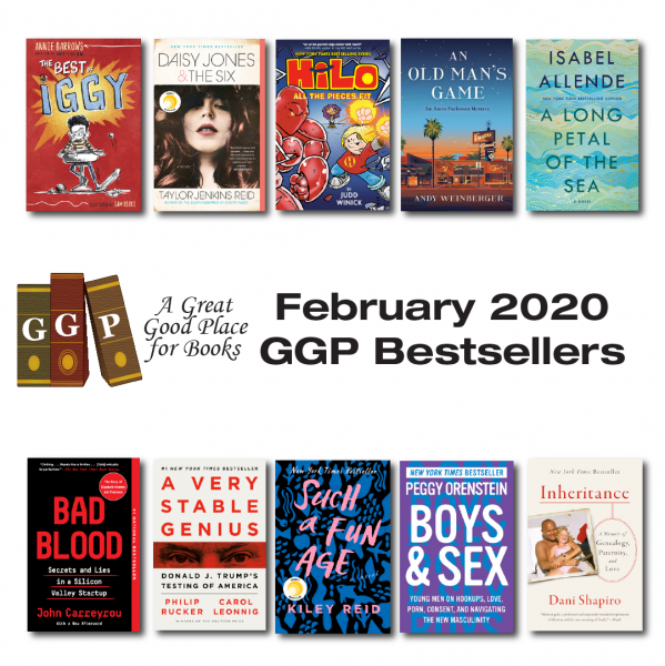 Cover photos for ten Feb. 2020 best sellers